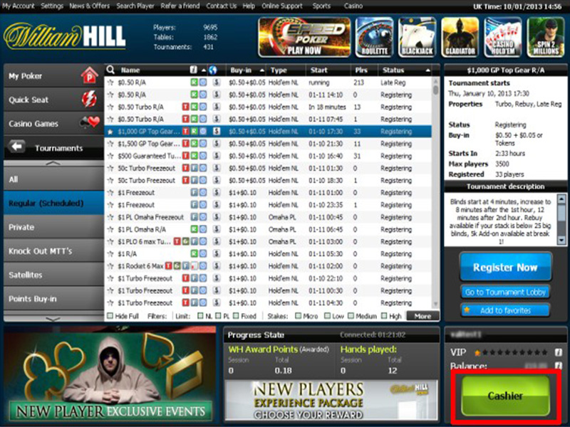 William hill poker mac software